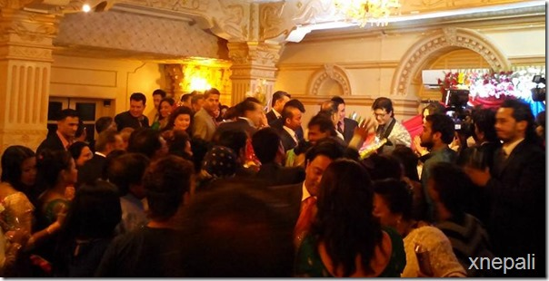 rajesh hamal reception party crowd