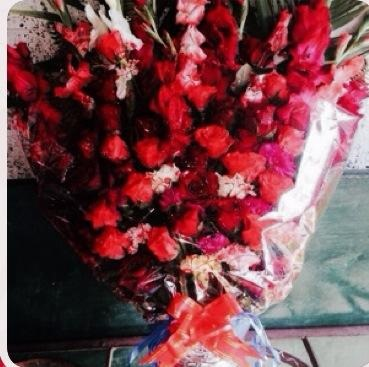 Rajesh Hamal fan from UK sent flowers to the newly married couple (2)