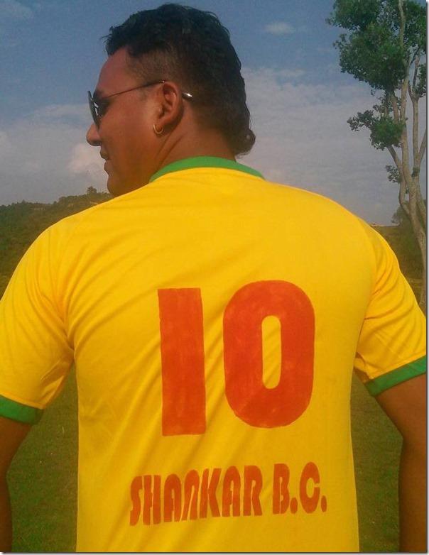 shankar BC brazil t shirt with his name