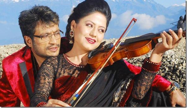 shree Krishna and sweta Khadka in kohinoor film