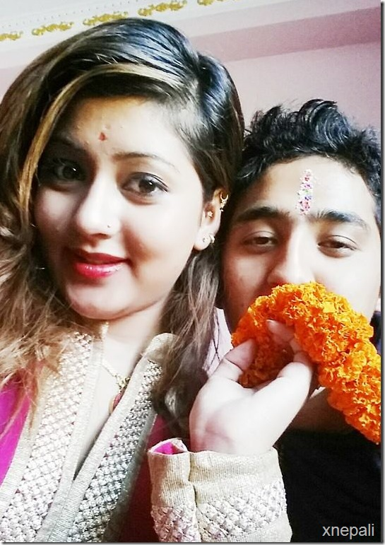 sagun shahi with her brother after bhaitika.
