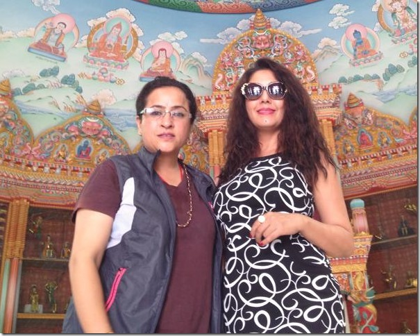 karishma manandhar lumbini tour with samjhana upreti