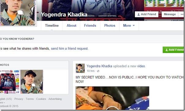 fake id of yogendra khadka 1