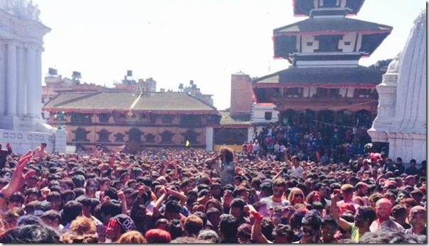 holi clebration in basantapur