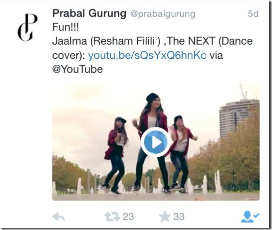 prabal gurung tweets resham filili dance