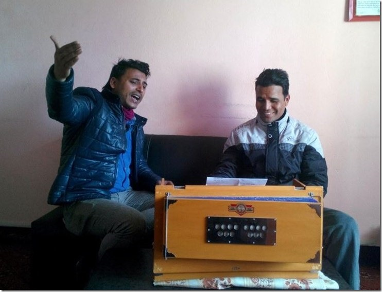 singer yubaraj chaulagaina and santosh shrestha