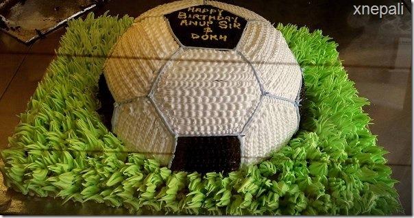anup baral birthday cake