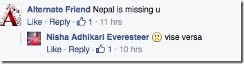nisha misses nepal