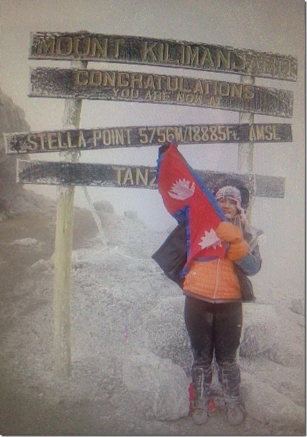 nisha adhikari mt. kilimanjaro peak1