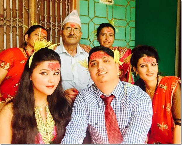 sushma adhikari dashain with her family