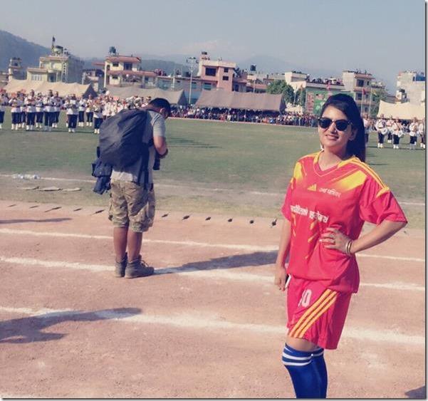 jharana thapa in football game