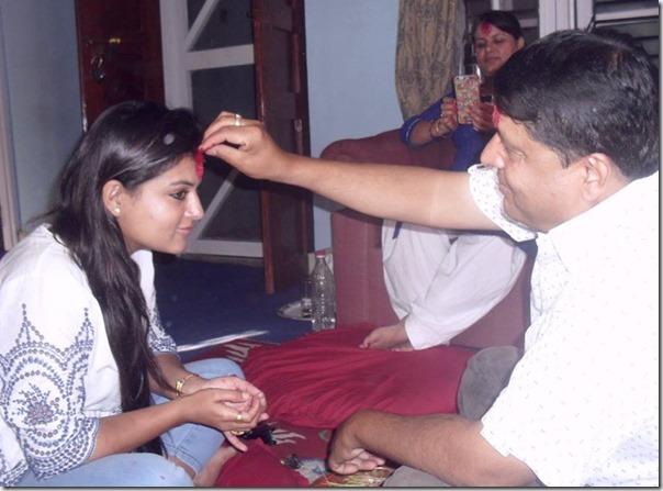 chhabi ojha dashain tika to shilpa pokharel