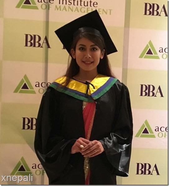 asmi shrestha miss nepal 2016 -graduation