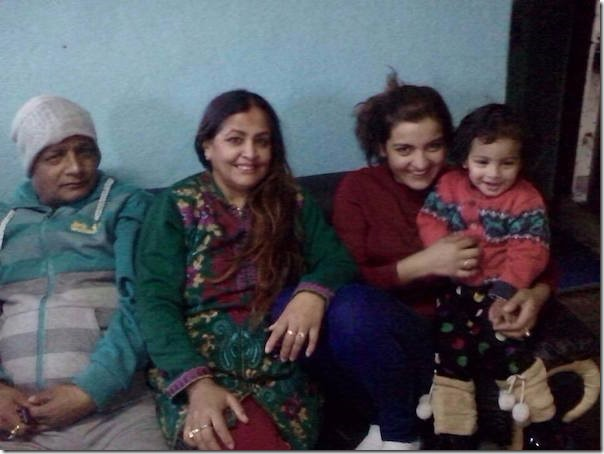 arunima lamsal with her parents and daughter
