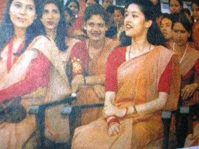 Princess-Shruti-Shah-Rana-padma-kanya college function