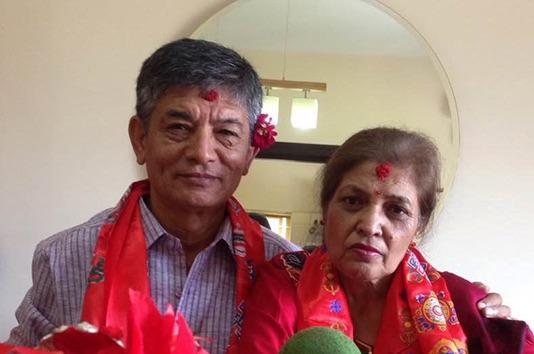 madan krishna shrestha and wife yesodha