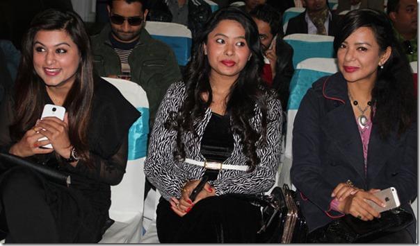 three actresses chhabi introduced rajani kc poojana pradhan and shilpa pokharel