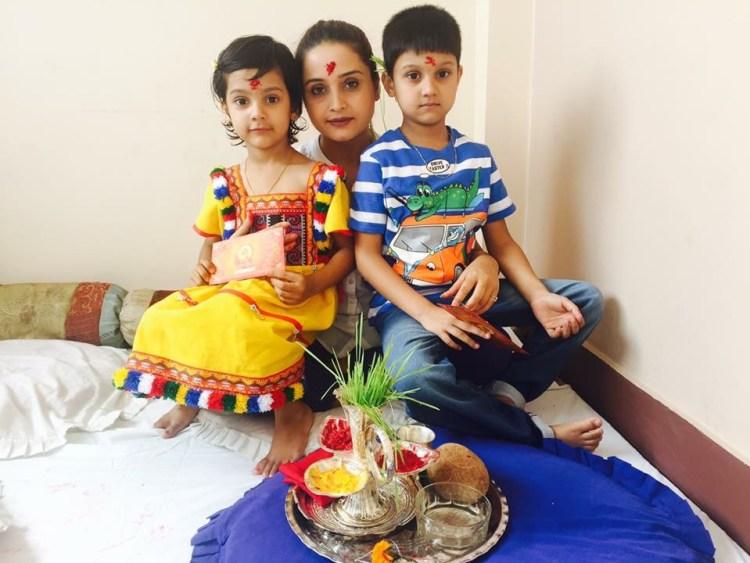 dashain-of-sanchita-luitel-and-her-children