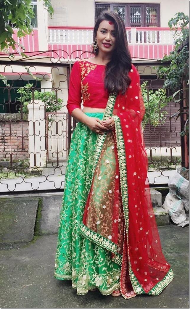 malina joshi Dashain 2016