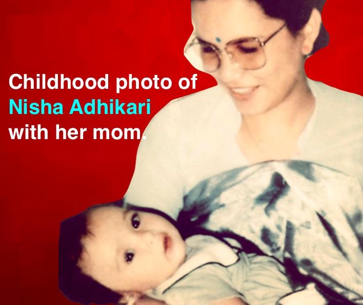 nisha-adhikari-childhood-photo
