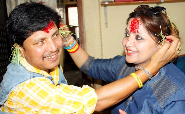 deepak-raj-giri-and-deepa-shree-niraula-celebrate-dashain-2016