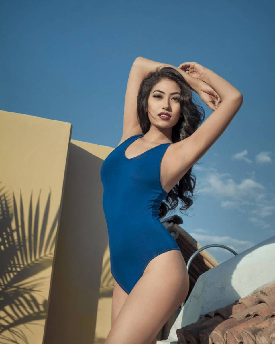 Bikini pose of Miss Universe Nepal Nagma Shrestha,