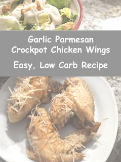 Garlic Parmesan Crock Pot Chicken Wings - Easy, Low Carb Recipe