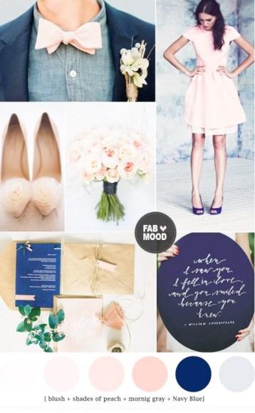 peach blue wedding
