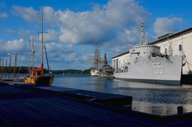 Karlskrona - am Marinemuseeum