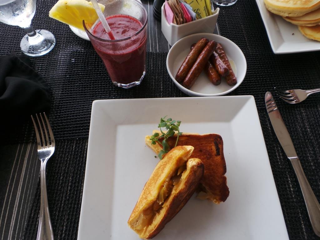 Stuffed French Toast: Thick cut Texas toast, apple chutney.