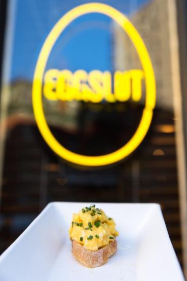 Chefs Club Counter Opening - Eggslut Logo Photographer Benjamin Lozovsky - BFA.com