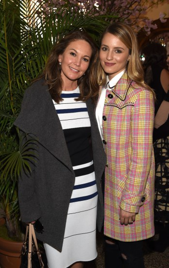 Actress Diane Lane and  Dianna Agron