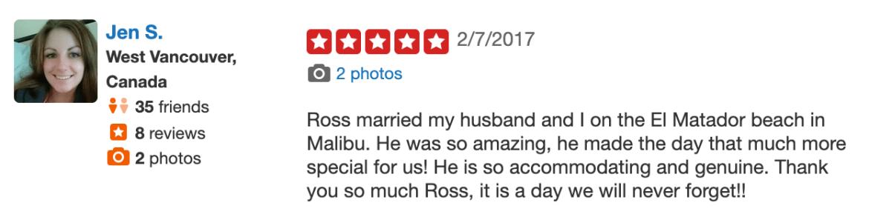 LA Wedding Today Wedding Officiant Reviews Los Angeles