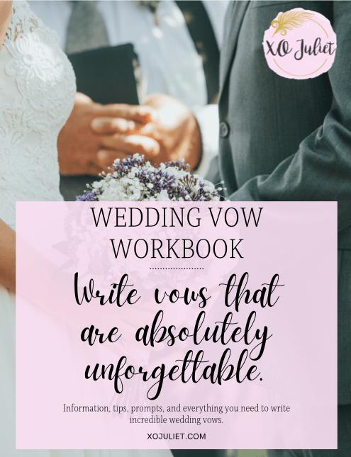 how to write wedding vows workbook