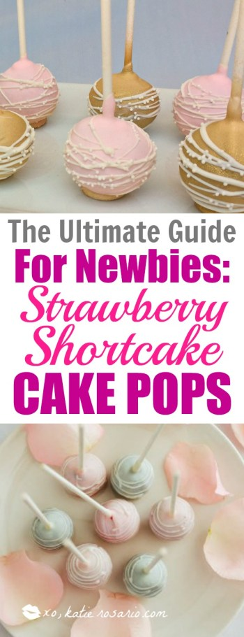 How to Make Strawberry Shortcake Cake Pop learn from top bakers perfect for beginners