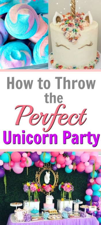 how to throw the perfect magical unicorn pinterest diy party