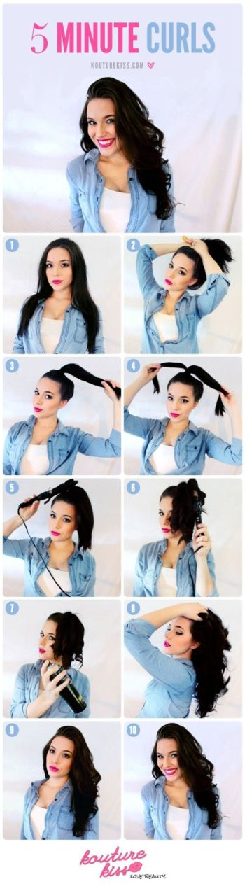 5 minute curls hairstyles for busy cray mornings office hair