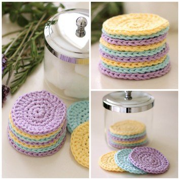 diy crochet face scrubbies reusable eco friendly