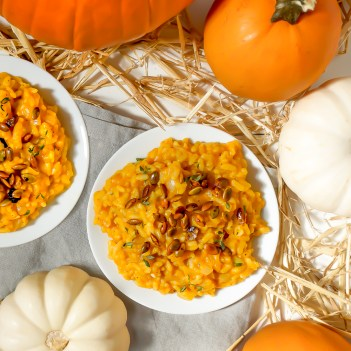 Pumpkin risotto. 9 Salty & Savory Pumpkin Recipes that aren't Desserts: Fall is here and pumpkin is everywhere! I love it! I always forget that you can cook dishes with pumpkin that aren't desserts or overly sweet. Making pumpkin the star of the dinner is so fast and easy. I like the tip to use pumpkin puree and mix it into an Alfredo sauce then making a delicious pizza. And OMG! Make mac and cheese with pumpkin it's the boom! Must try!