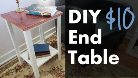 diy $10 end table tutorial easy bedroom decor hacks. I just moved and I needed to update my old bedroom decorations. So by searching Pinterest I saw these great ideas! I love decorating so this is very exciting for me! I don't have a lot of money to spend on new décor so I made my own DIY bedroom décor! Decorate for less with these dollar store DIY bedroom projects. These ideas can be made for under $10 or at the dollar store!