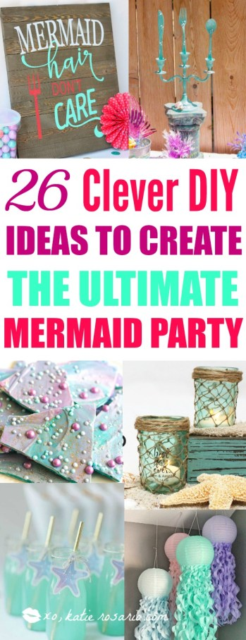 26 Diy Under The Sea Mermaid Party Ideas Katie Rosario