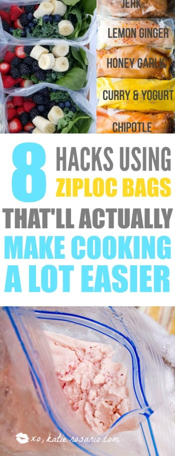 I'm so excited! This is exactly what I have been looking for! Using ziploc bags to make cooking easier is simply genius! I love this post! These ideas helps from meal prep ideas, homemade ice cream, and vacuum sealing meats and produce so I actually save money! Definitely saving for later!