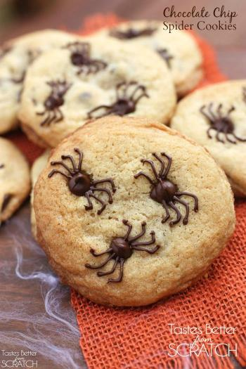 Chocolate Chip Spider Cookies How to Make Cookies for Halloween Perfect for Newbie Beginner Bakers