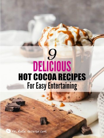 9 Delicious Hot CHocolate Recipes for Easy Entertaining: There is seriously nothing better than hot chocolate on a cold day! I really look forward to much cup of cocoa in front of a fire! I totally love that all these hot chocolate recipes are perfect for a holiday or Christmas party because you can use a crockpot for easy serving! The slow cooker makes it easy for entertaining! Pinning for later!