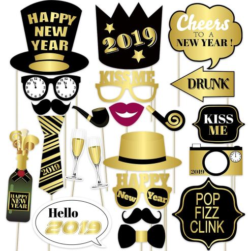 New Years Eve Party Photobooth Decor | Last Minute New Years Eve Party Decorations