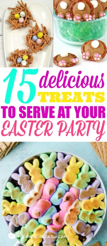 Easter is almost here and I can't wait to celebrate and eat good food! These snacks and treats are super cute. They are so easy to make! Making easy snacks on a busy holiday is the key and i think this is exactly what I was looking for. Some are desserts, some are healthy snacks but they are all food I would love to eat! Can't wait to try them all! This is a must try! #easter #easterdinner #eastersnacks #springdesserts #spring #healthysnacks