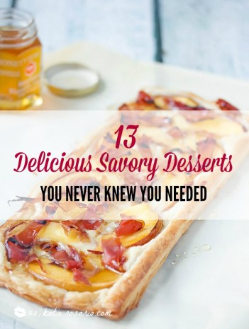 I am totally a dessert girl! But I find this so cool! How to make savory desserts that are a perfect treat after dinner. I also love that I can have these for a salty sweet brunch and serve with mimosas! These are delicious homemade desserts with a savory and tasty twist! Instead of a sugar high its a salty sweet flavor combination you will love! #brunch #savorydesserts #desserts #saltysweet #savoryrecipes #easyrecipes