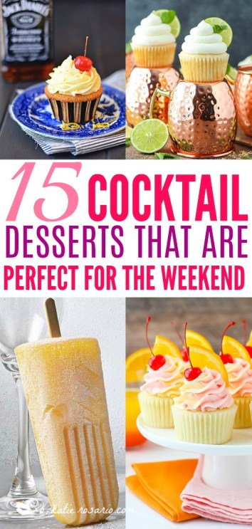 Cocktail Inspired Dessert Recipes