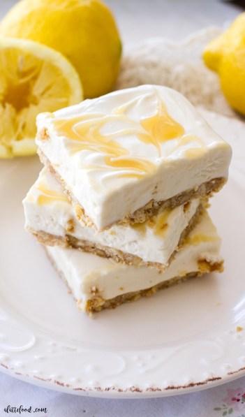 no bake lemon cheesecake bars, no bake summer dessert recipes