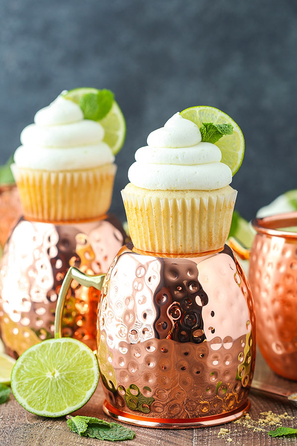 Moscow Mule Cupcakes | Cocktail Inspired Dessert Recipes